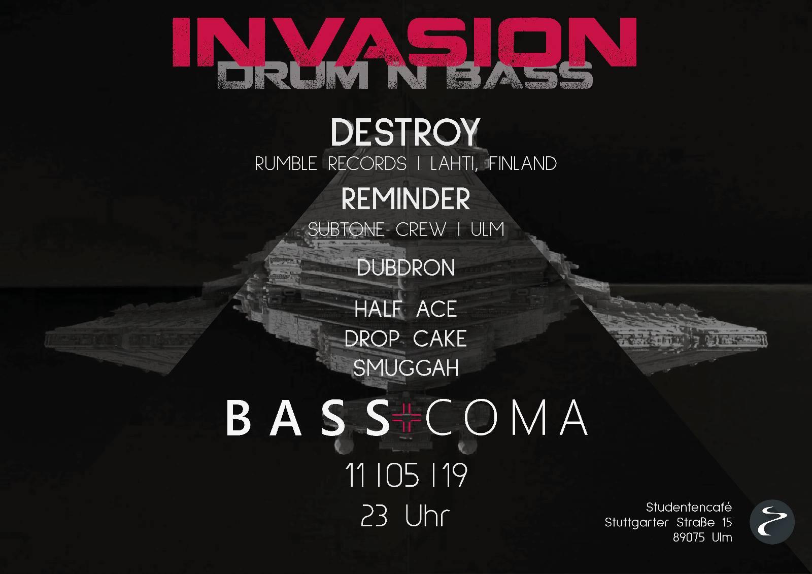 Bass+Coma im Studentencafe Invasion Drum n Bass