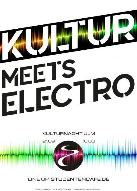 Kultur meets Electro - die Kulturnacht 2019 in Ulm wird im Studtencafe mit feinster elektronischer Musik gefeiert