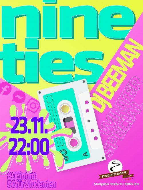 90ies Party im Studentencafe mit DJ Beeman - das Winterspecial